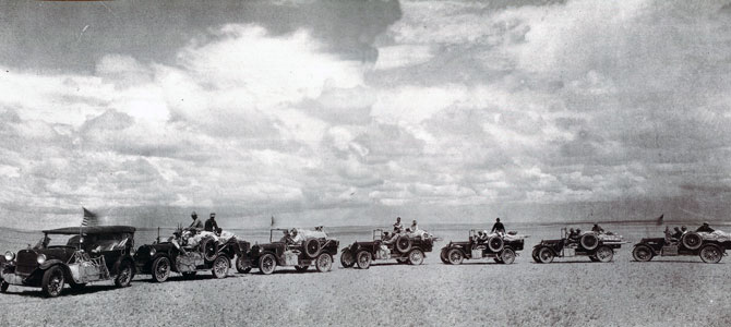 Roy Chapman Andrews' automobile caravan